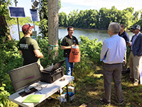 USGS scientists at the public outreach event in Northfield, MA